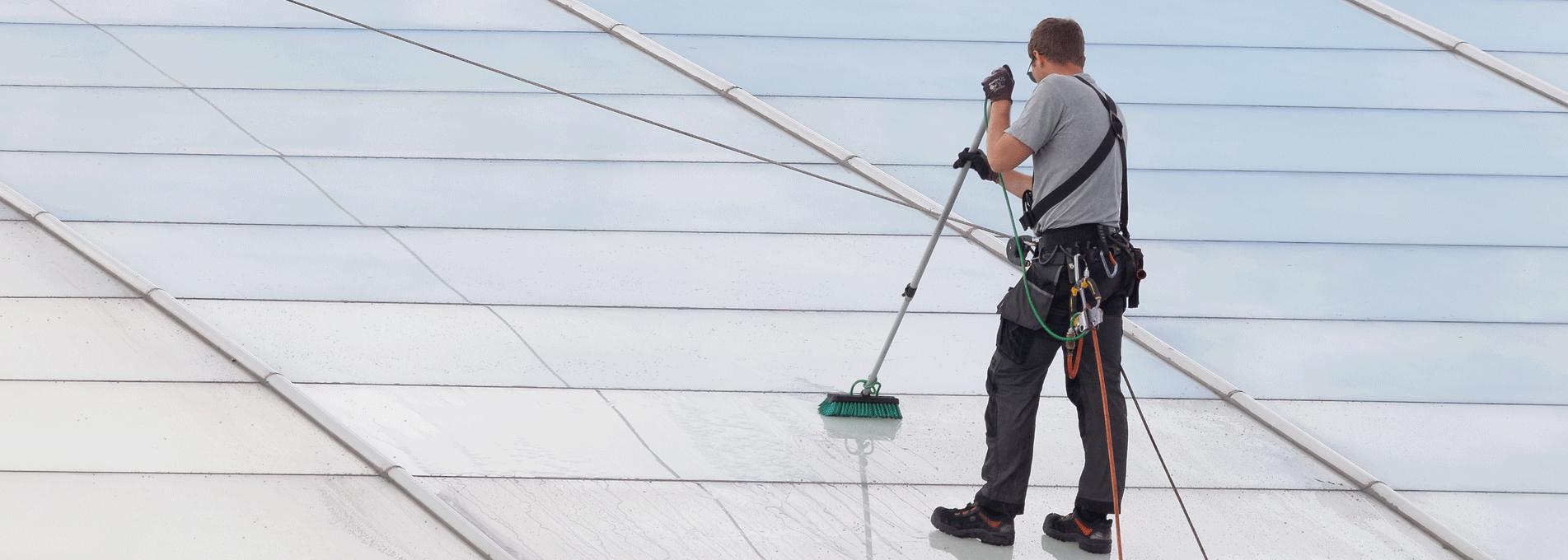 Tvätt av tak