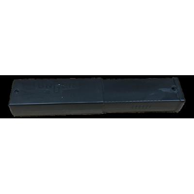 10cm Unger rakblad svart