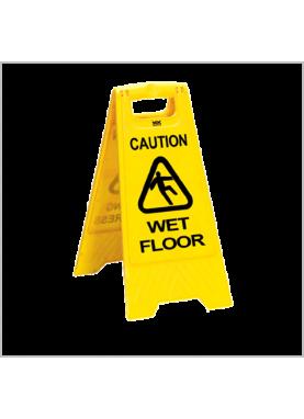 varningsskylt i hårdplast