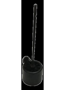 wc-ställ med spolrandborste svart