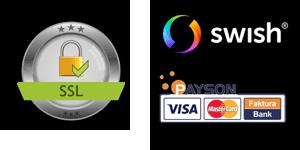 Surfa säkert med SSL. Betala tryggt med Payson